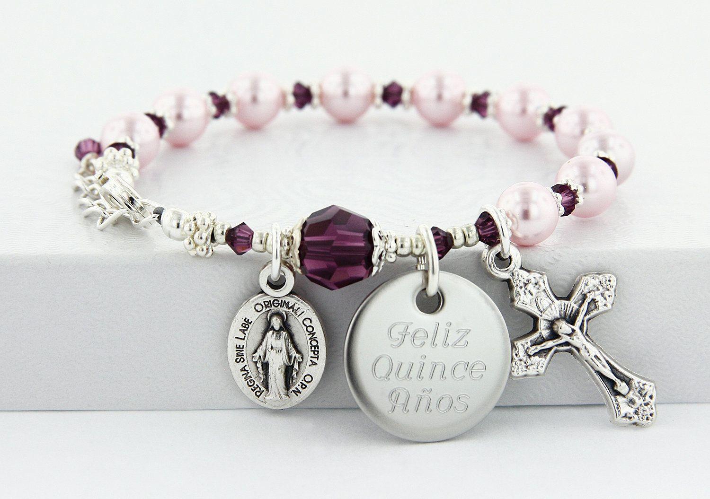 Communion bracelet rosary bracelet for communion etsy