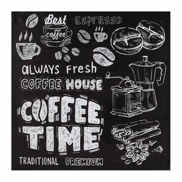 diy peindre un carr avec peinture ardoise et dessiner la craie coffee time pinterest. Black Bedroom Furniture Sets. Home Design Ideas