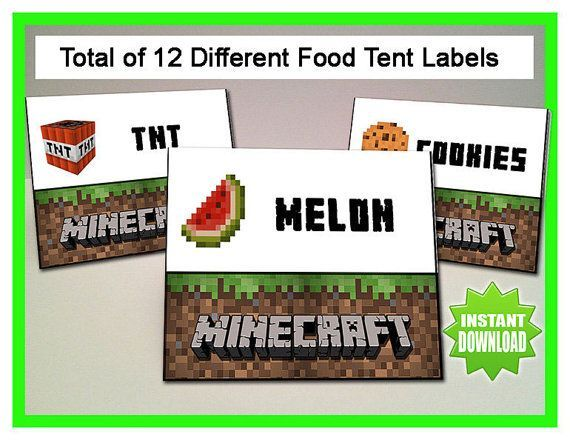 photo about Free Printable Minecraft Food Tents named Absolutely free Printable Minecraft Foods Tent Playing cards Minecraft