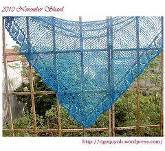 Ravelry: 2010 November shawl pattern by Ngo Quynh