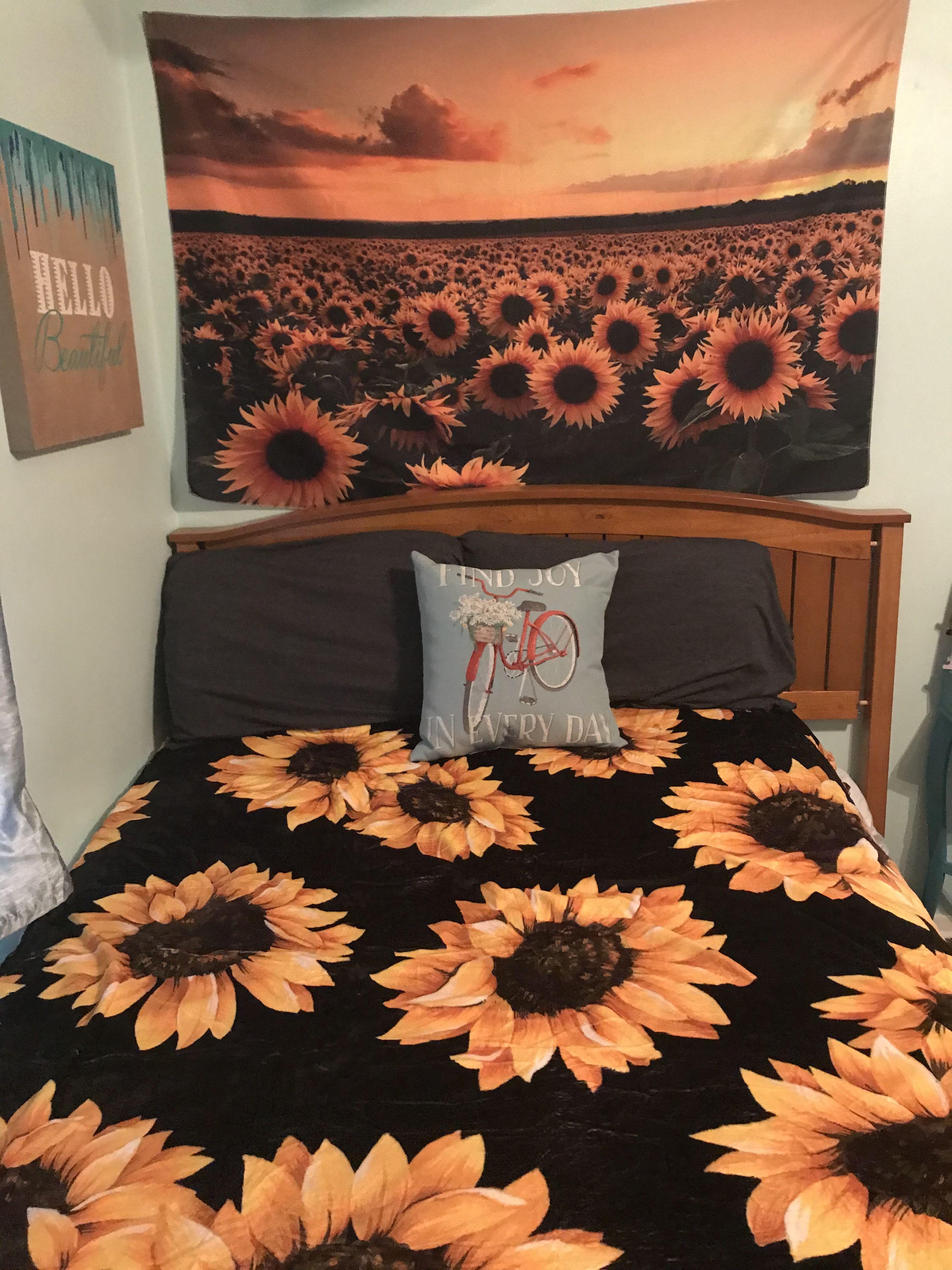 My Sunflower Bedroom Cute Room Decor Sunflower Room Dream Bedroom