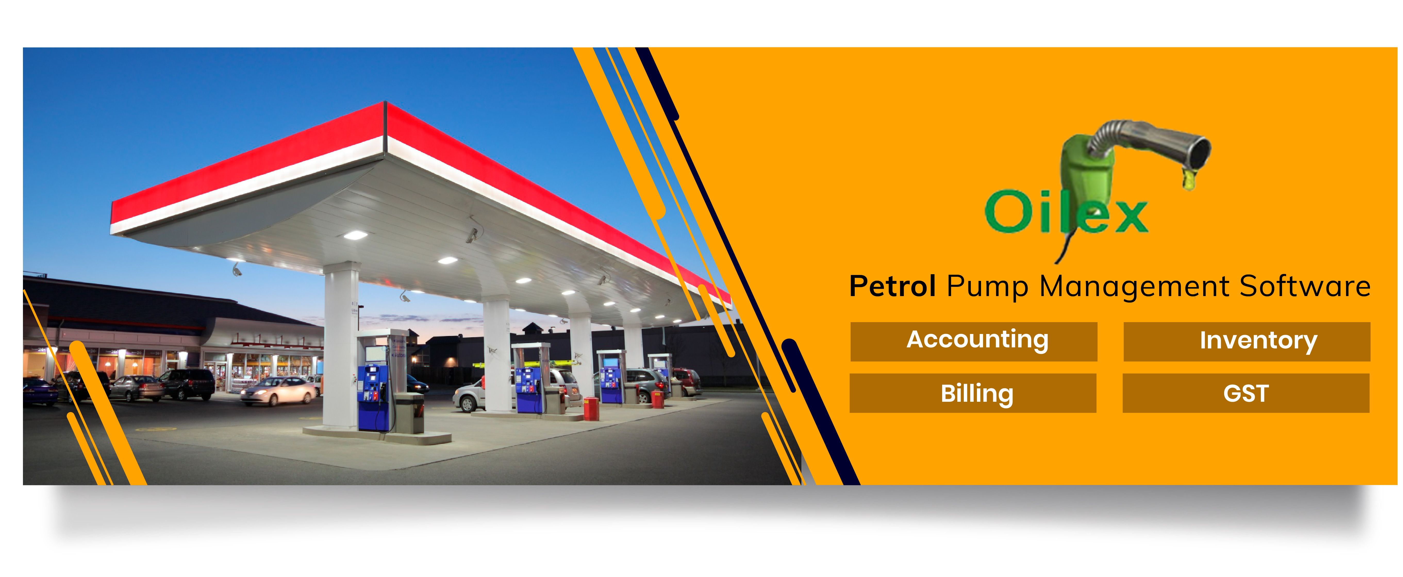 Oilex petrol pump software is a package of accounting and
