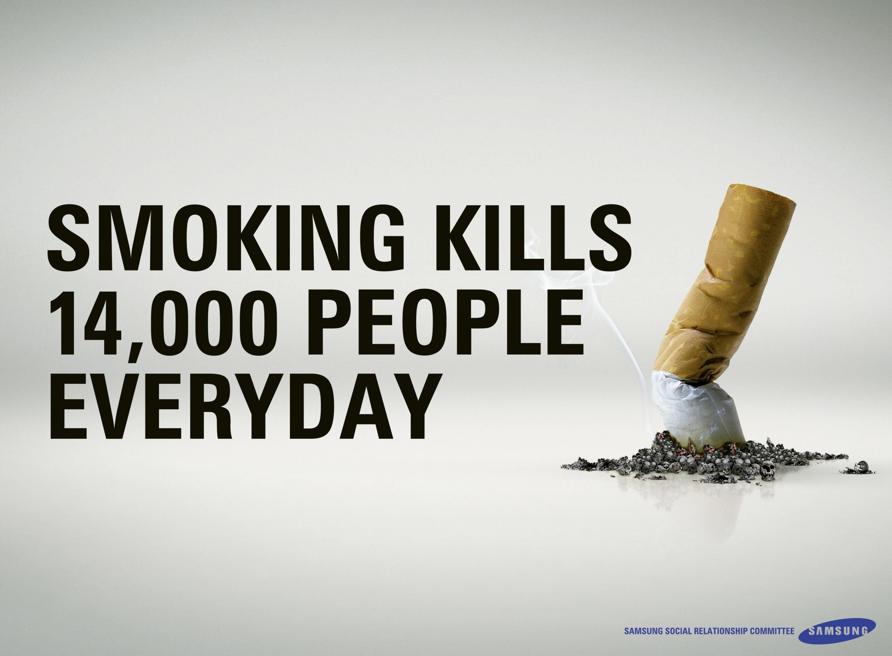 samsung social relationship committee anti smoking message no anti smoking