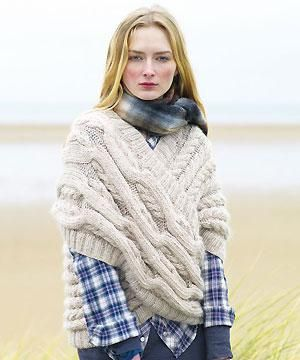 Knit a cabled loop wrap Summer!!! FREE pattern: Go to http://pinterest.com/DUTCHYLADY/share-the-best-free-patterns-to-knit/ for more than 1500 FREE patterns to KNIT