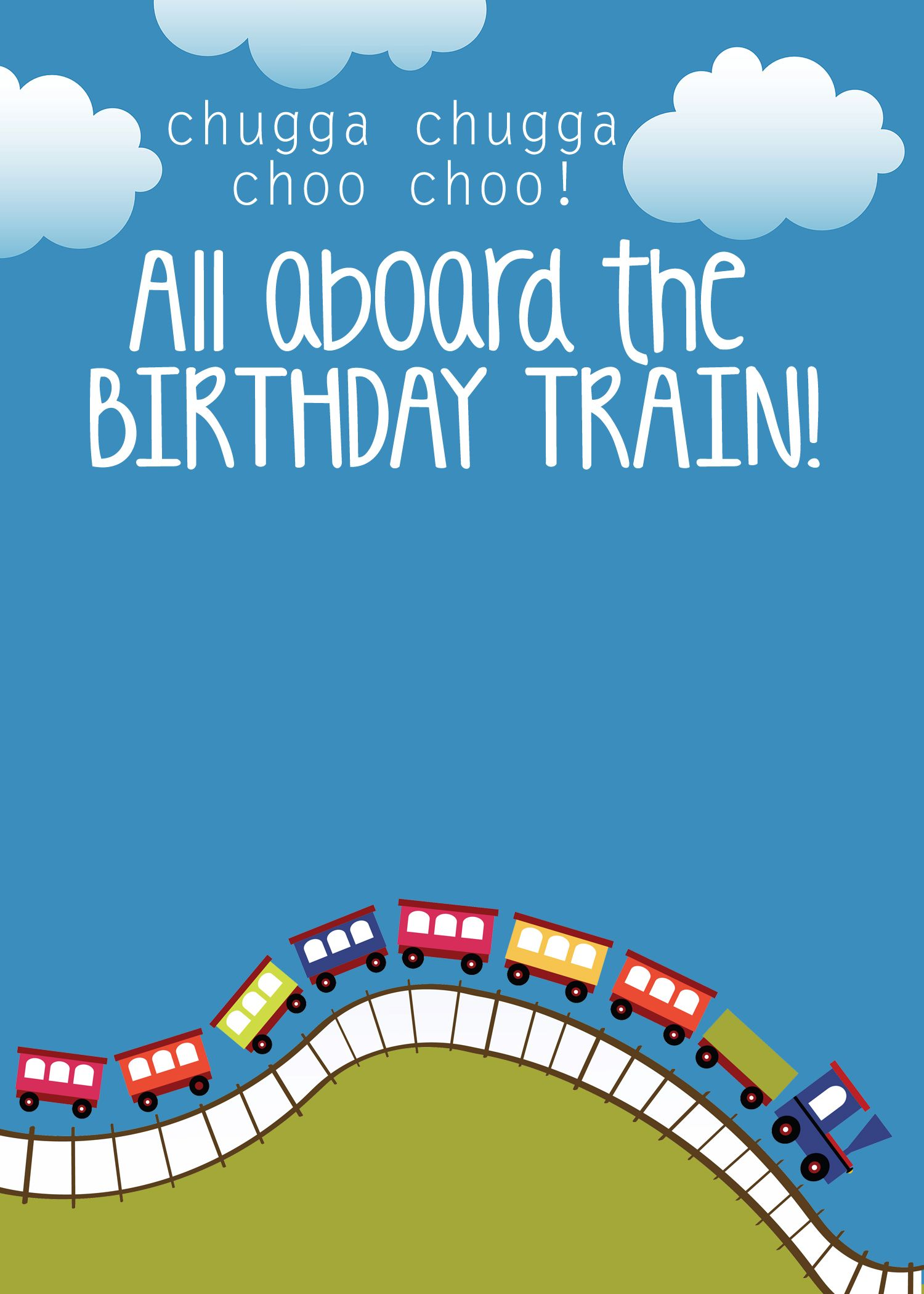 Train Themed Birthday Party With FREE Printables Party Invitation - Party invitation template: train party invitations templates