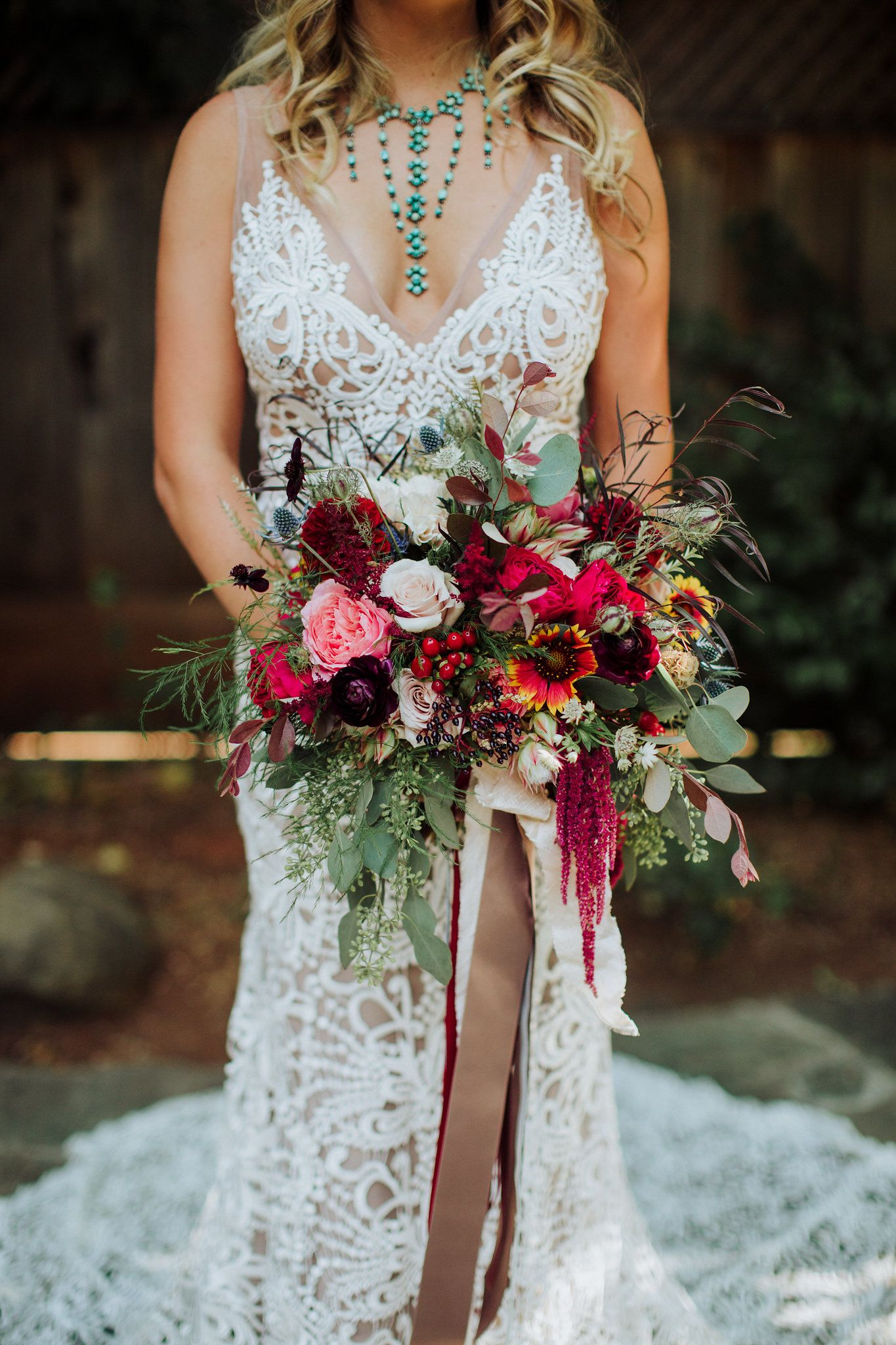 Boho chicorganic bouquet the posh poseymy designs pinterest