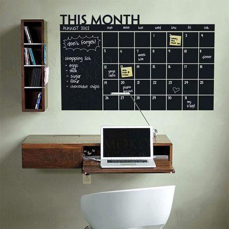 DIY Chalkboard wall calendar ideas | Chalkboard wall ...