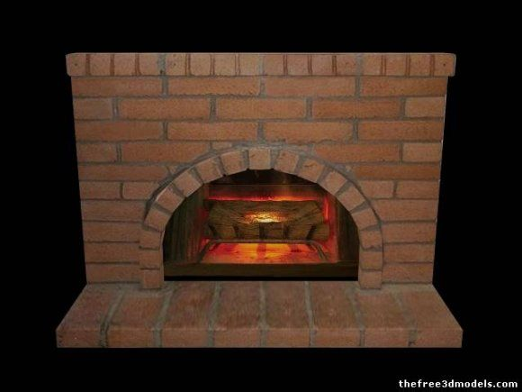Fire Place 3d model free