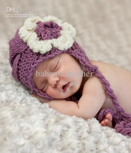 10pcs/lot baby crochet hats Newborn Baby Girl Hat - Knit Baby Hat ...