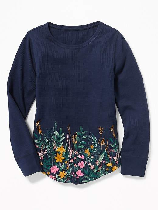 1547fa22 Thermal-Knit Scoop-Neck Tee for Girls | Products | Scoop neck, Mens ...