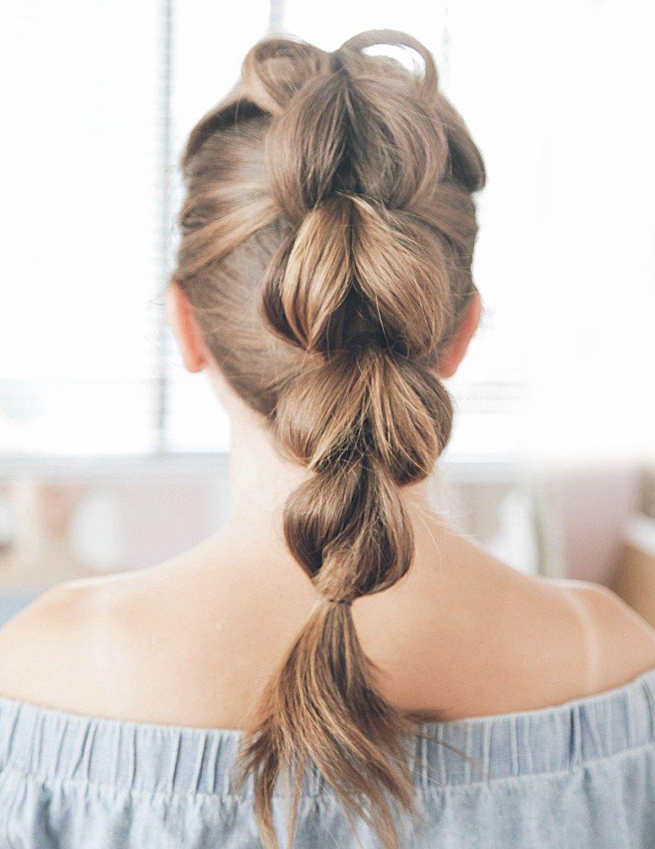 Kassinka pull through braid tutorial with shorter hair peinados