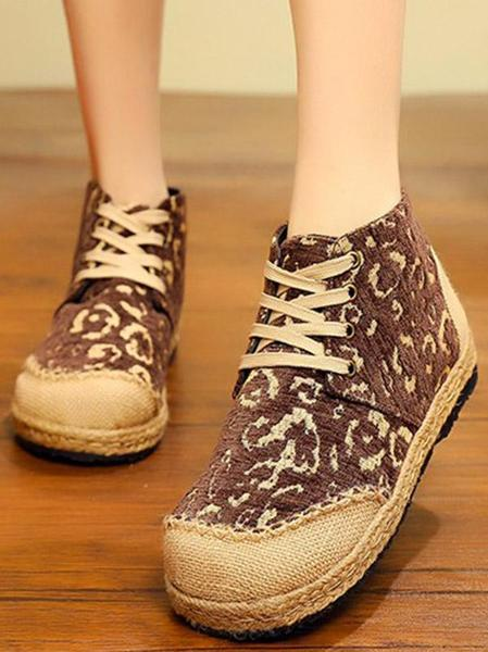 Leopard Thick Bottom Straw Shoes Straw shoes, Shoes