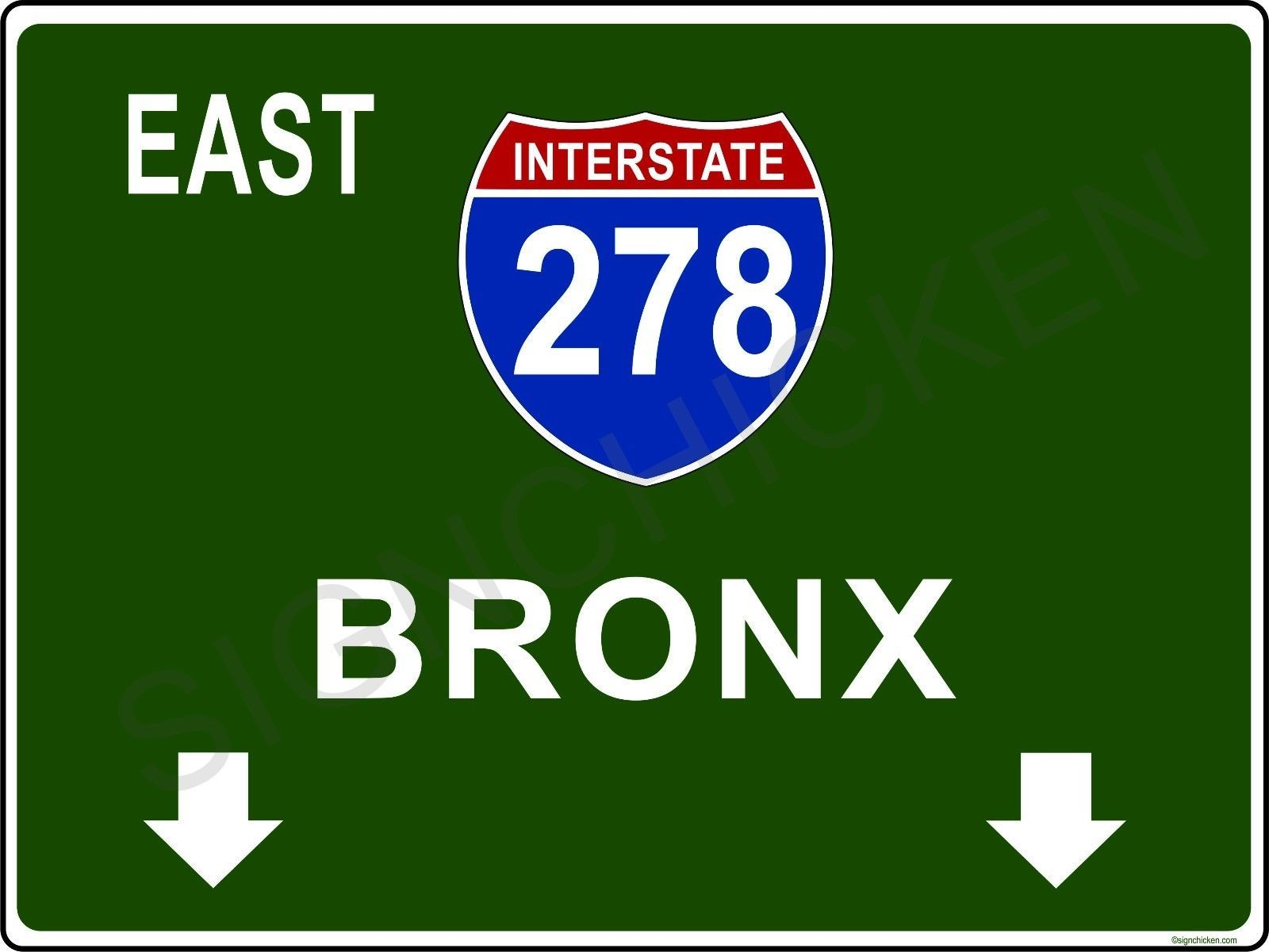 Details About Mini Interstate Road Sign New York I278 Bronx
