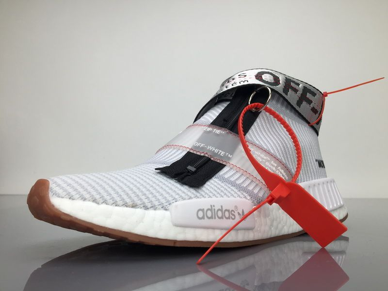 Buy OFF WHITE x adidas NMD City Sock Grey White BA7208 Shoes