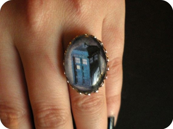 It S Bigger On The Inside Doctor Who Jewelry Doctor Who Ring Tardis Ring