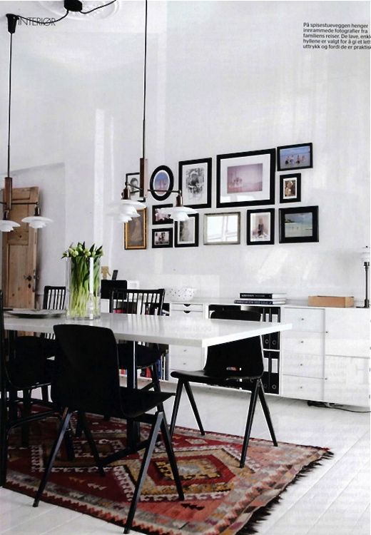 12 Kitchens U0026 Dining Rooms Made Cozy With Kilims: This Typical Copenhagen  Home With White