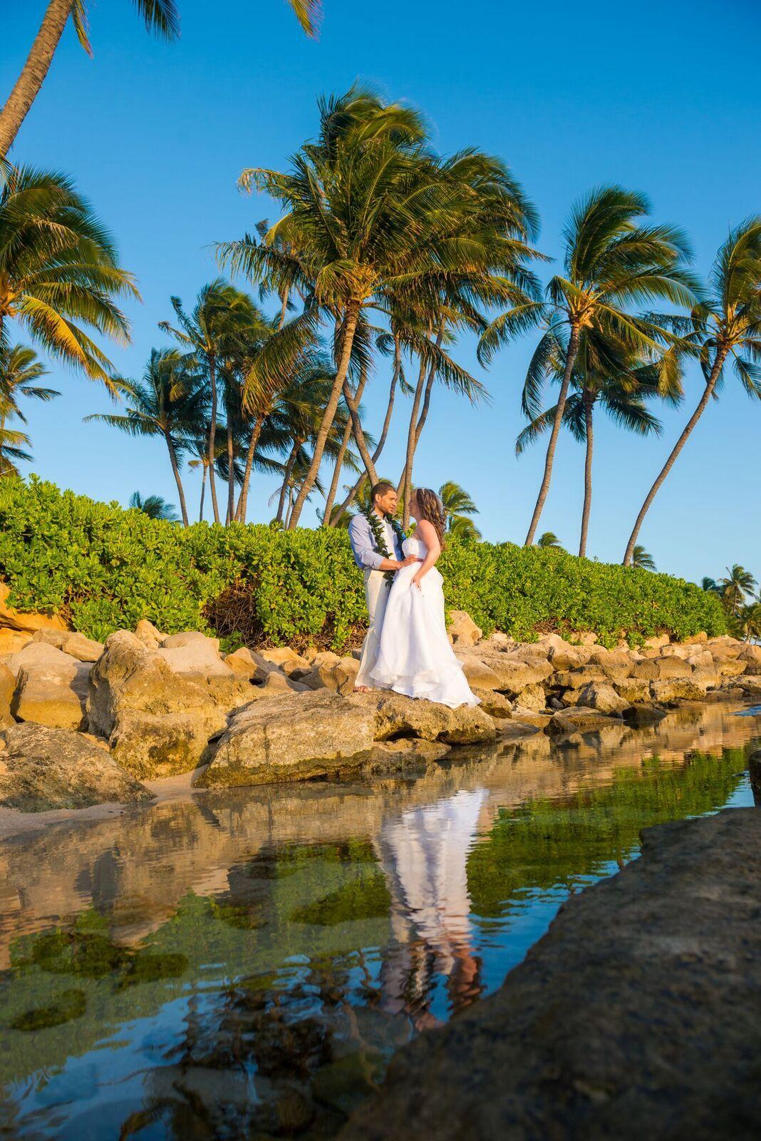 Sunset Vow Renewal Ceremony At Koolina Resort Oahu Hawaii By Islanderweddings Koolinaresor Hawaii Beach Wedding Beach Wedding Packages Hawaii Wedding Packages
