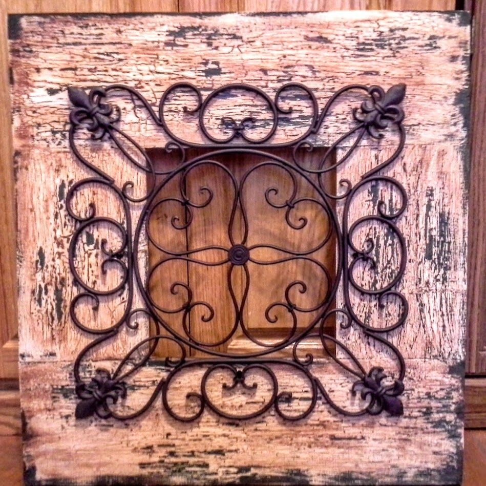 Handmade Rustic Wall D 233 Cor Antique Brown And Hunter Green