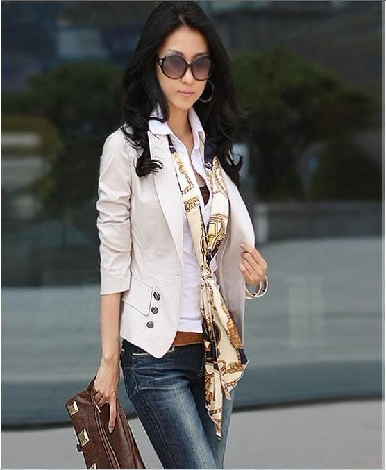 2012 fashion cardigan one button women's slim small suit jacket ...