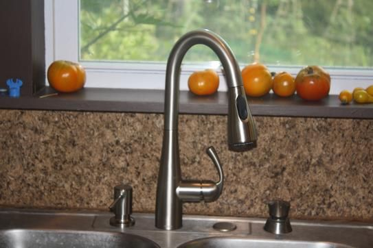 Moen Essie Single Handle Pull Down Sprayer Kitchen Faucet With Reflex And Power Clean In Spot Resist Stainless 87014srs The Home Depot Kitchen Faucet Moen Pull Out Faucet