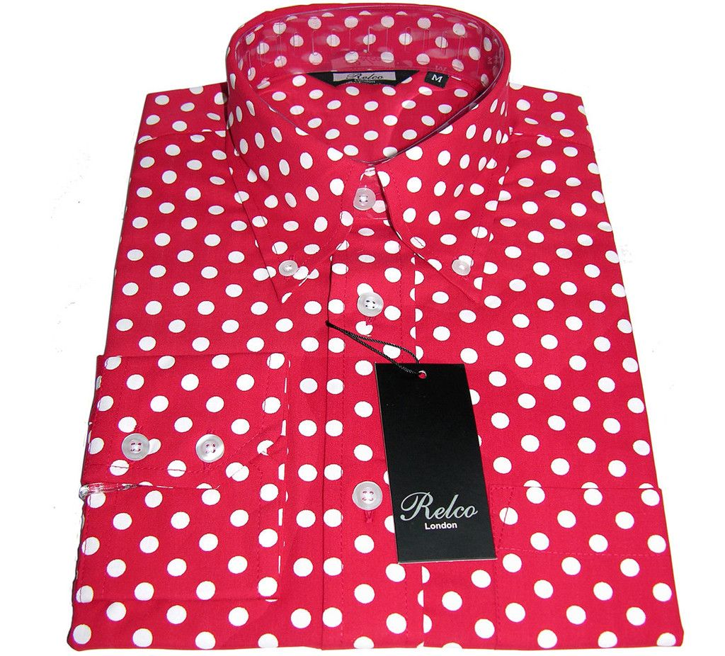 Mens Shirt Polka Dot Red & White Casual | Man style