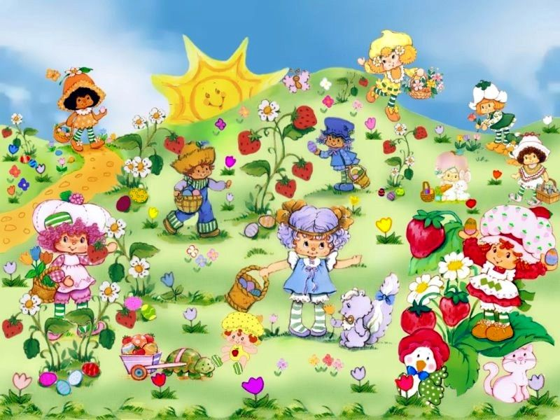Wallpapers Strawberry Shortcake S For Everyone 800x600 ...  Vintage Strawberry Shortcake Wallpaper
