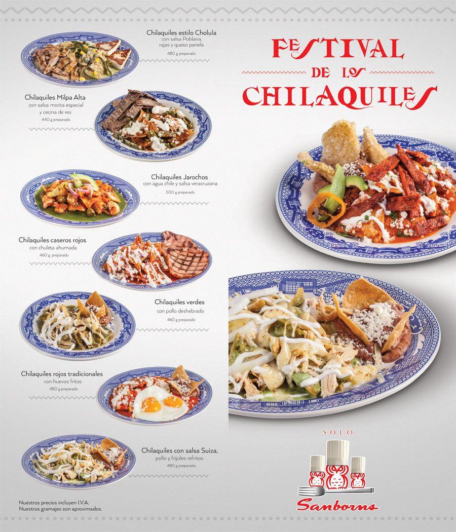 Festival del chilaquil sanborns platillos de cafeteras for Chocolates azulejos sanborns precio