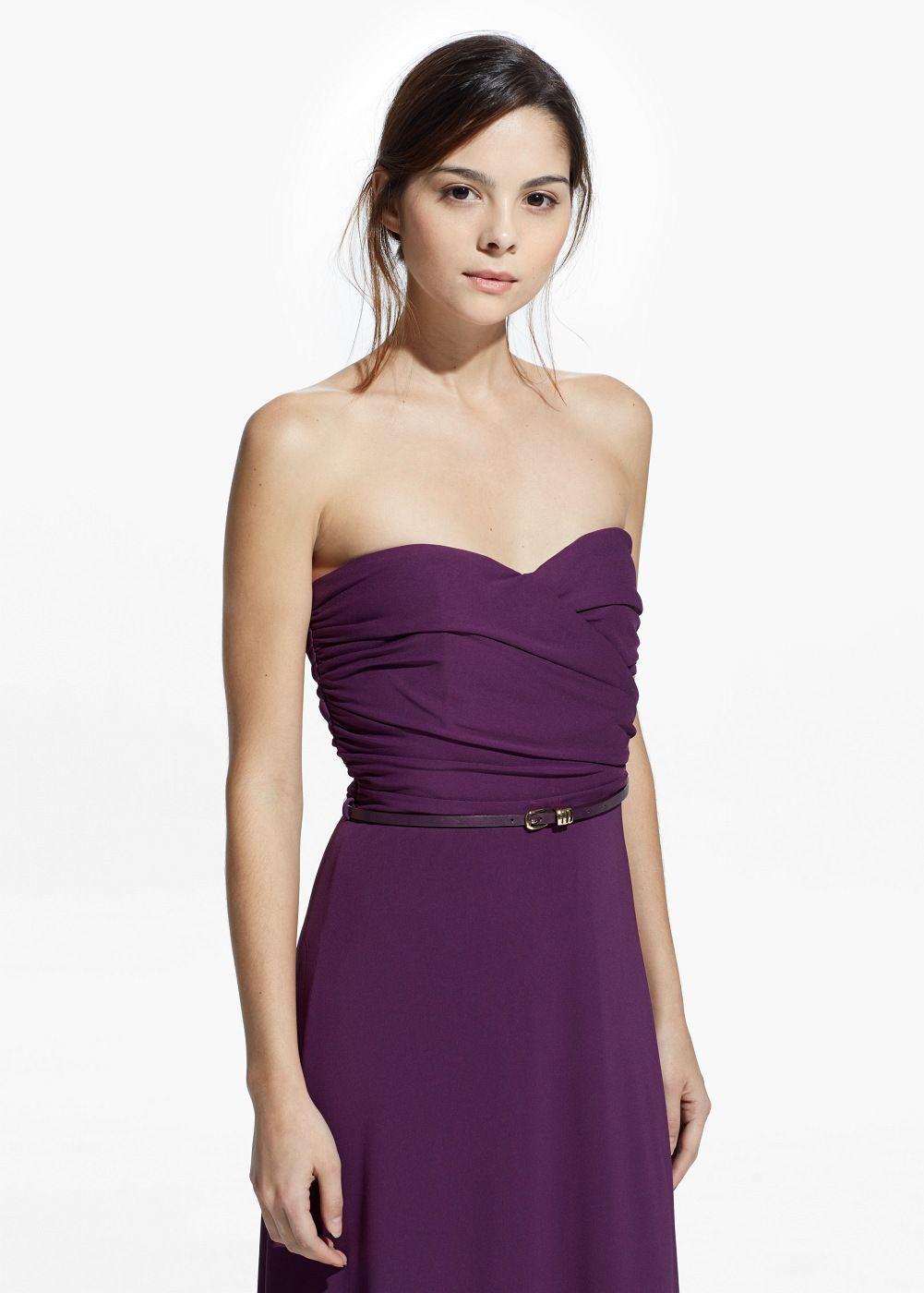 Vestido largo drapeado - Mujer | Como vestir, Drapeado y Vestirse