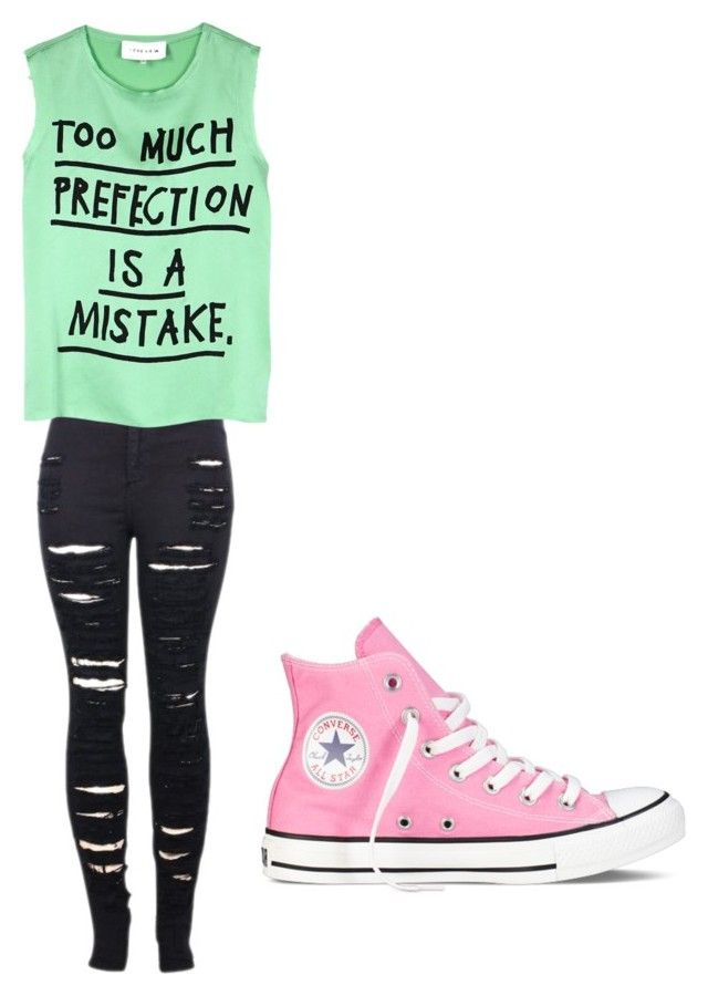 """""""Untitled #242"""" by rosslynch1999 on Polyvore featuring 2LUV, 5 Preview and Converse"""