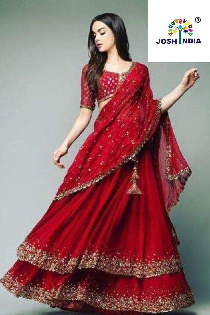 Hairstyle On Lehenga Simple in 2020   Simple lehenga, Lehenga choli, Designer dresses indian