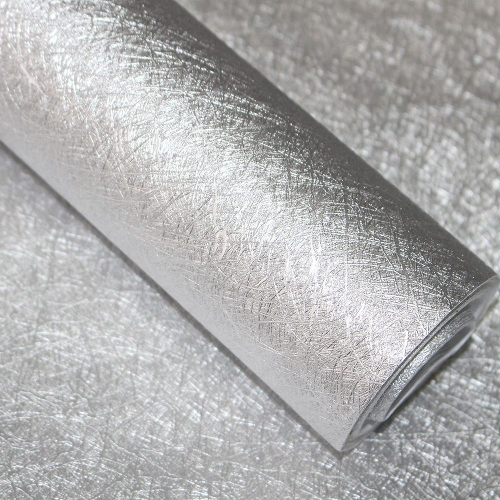 Silver Metallic Peel Stick Wallpaper Glitter Shinny Self Adhesive