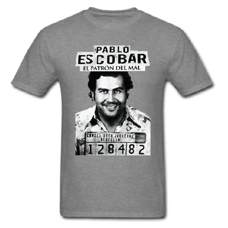 ca9c28508 Plata o Plomo T Shirt Shop Online Narcos Godfather Pablo Escobar Custom  Short Sleeve Valentine's Male Customised Tshirt