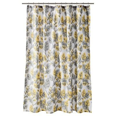 Bathroom Yellow And Gray room essentials® shower curtain - yellow/gray : target mobile