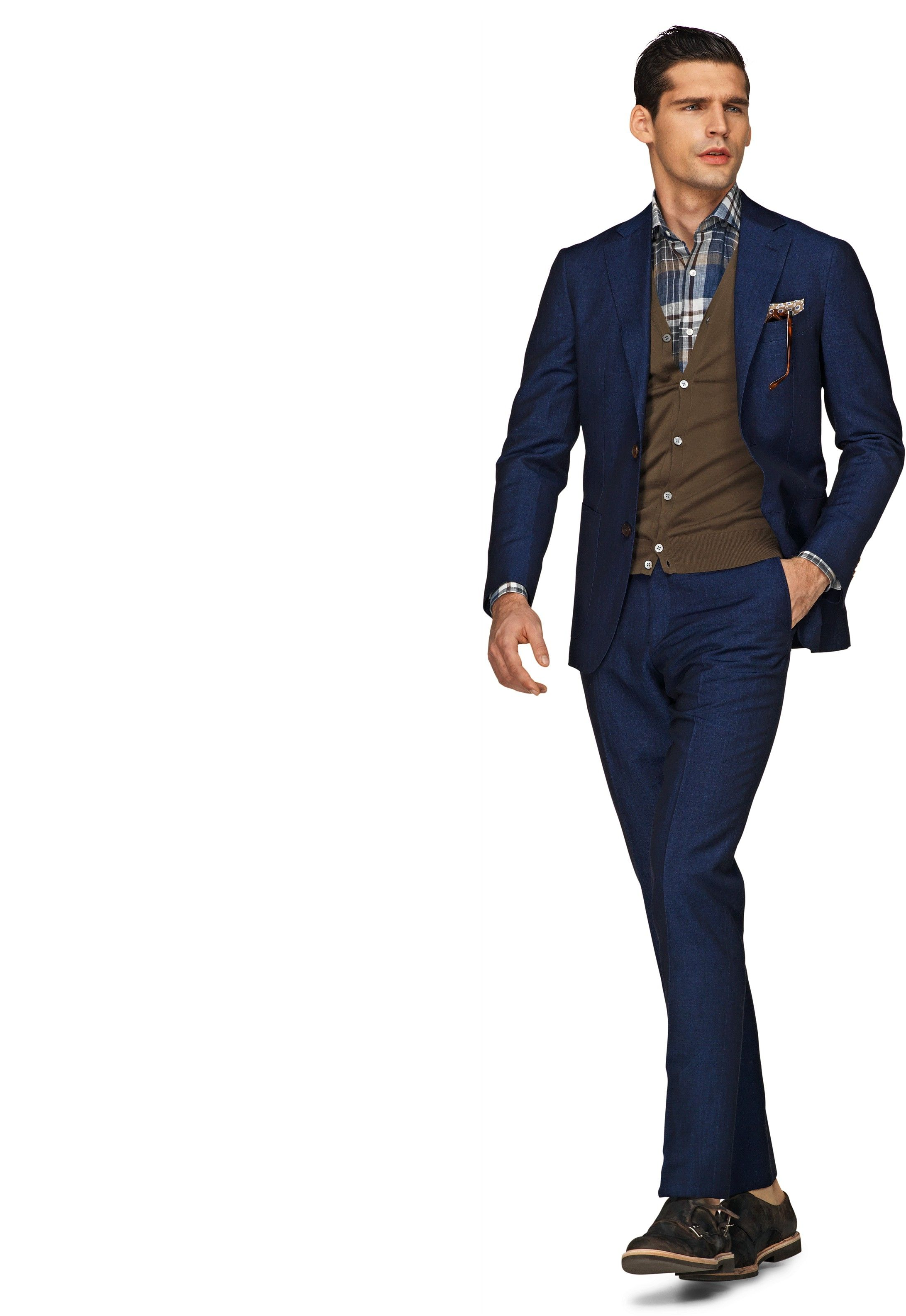 Suit Blue Plain Havana (Wool/Linen) P3500e   Suitsupply Online ...