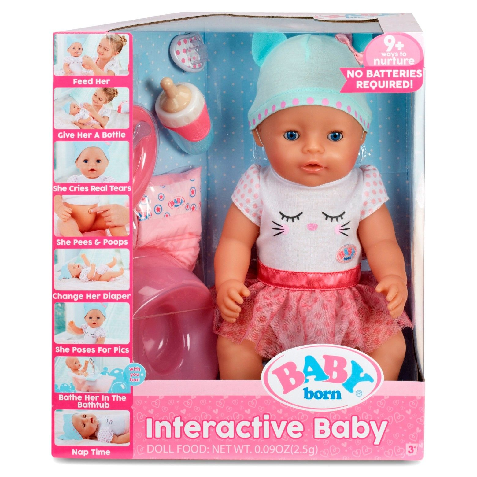 Baby Born Is Focused On Mother And Child Role Play Baby Born Grows Along With The Girl Either As A Baby To Interactive Baby Interactive Baby Dolls Baby Born