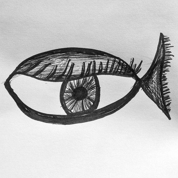 Fisheye Drawing By Gemma Ramji Sketch Drawing Draw Ink Art