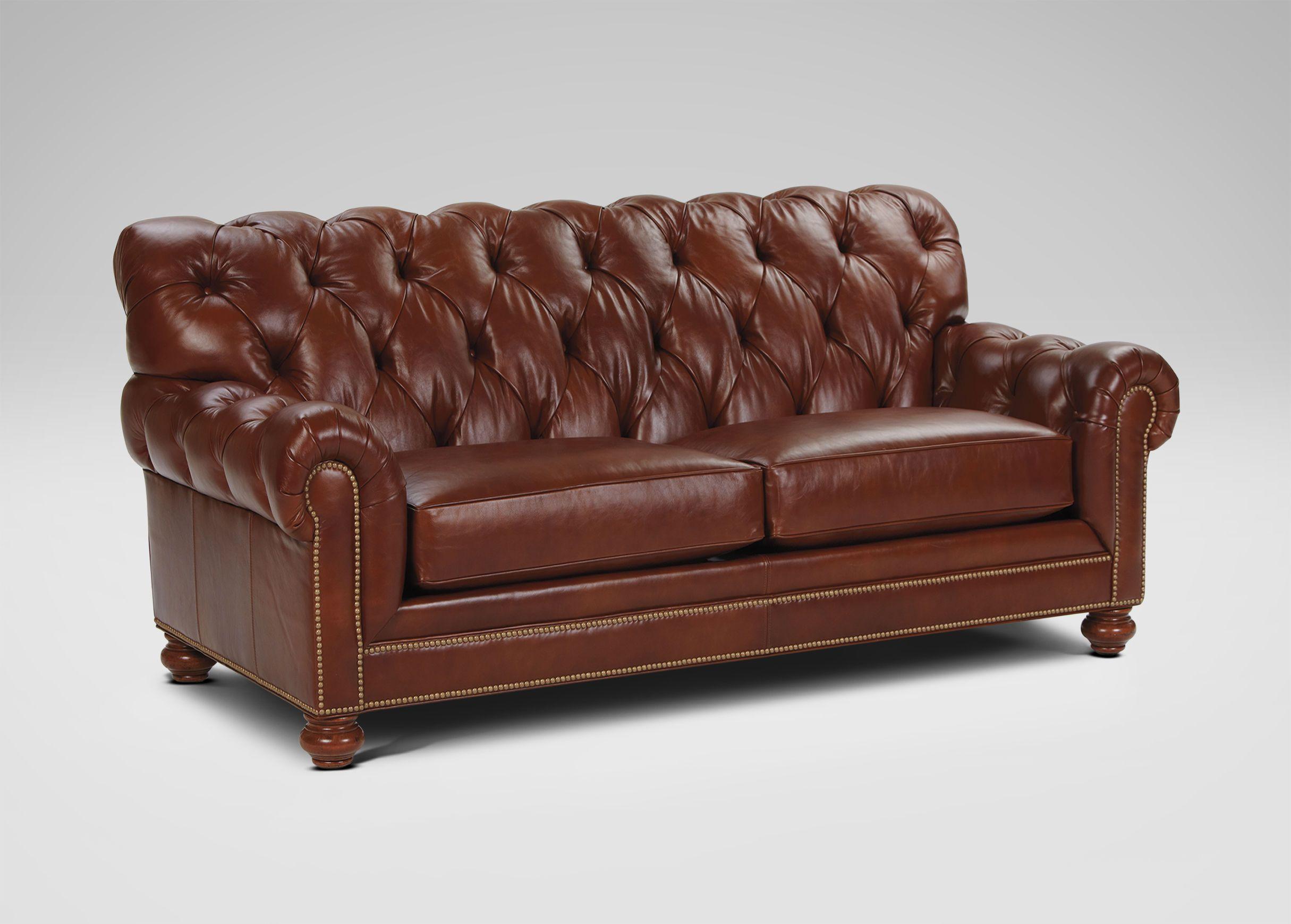 Chadwick Leather Sofa Old English Saddle