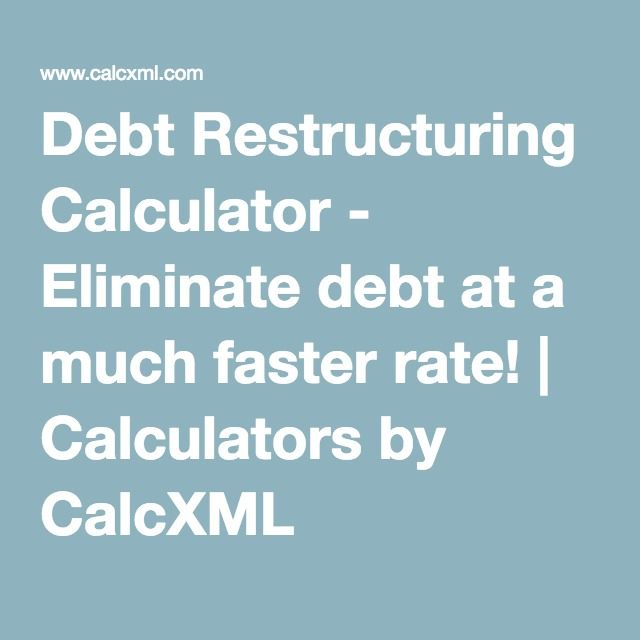Debt Restructuring Calculator - Eliminate debt at a much faster rate - loan amortization spreadsheet