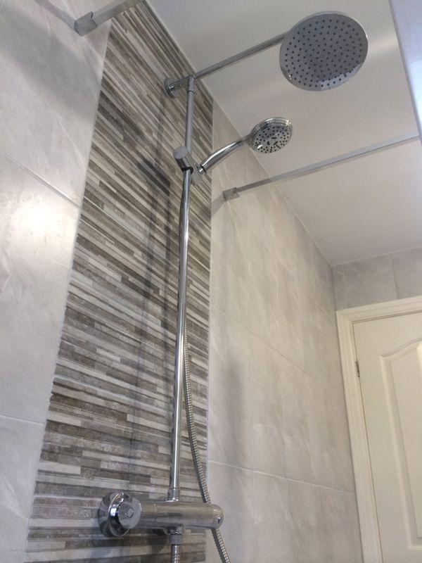 feature tile ideas tiles bathroom classic home tips model shower ...