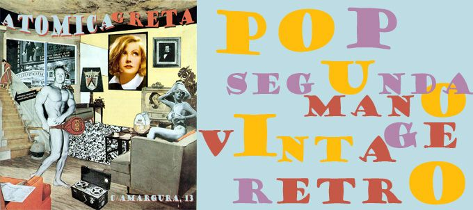 Flyer para la tienda vintage ATOMICA GRETA
