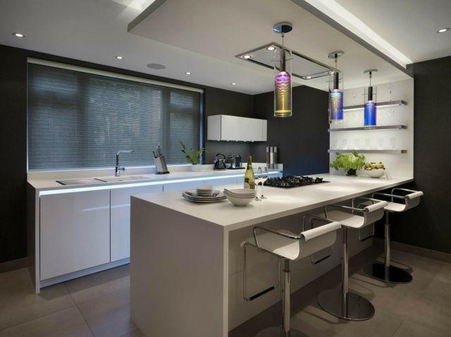 73 Idees De Cuisine Moderne Avec Ilot Bar Ou Table A Manger