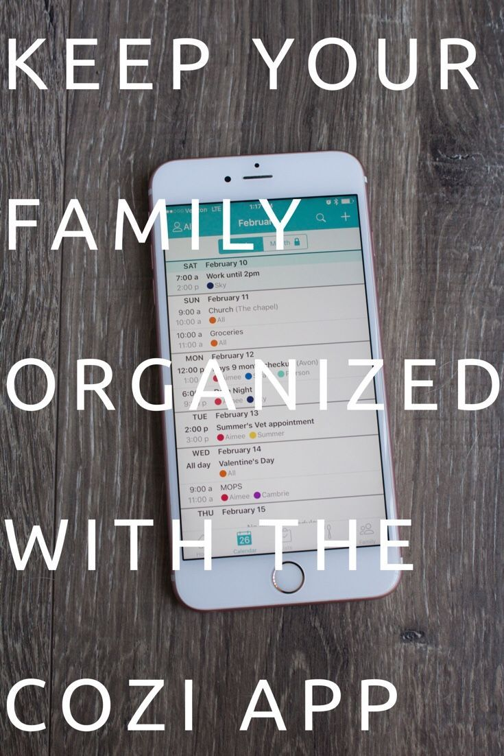 Keep your Family Organized with the Cozi App Family