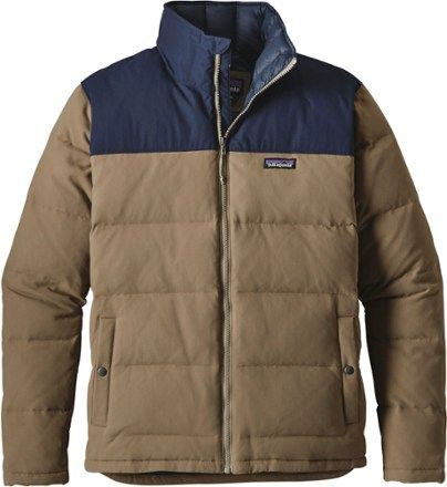 Patagonia Men/'s Bivy Down Jacket Ash Tan Navy 600 Fill