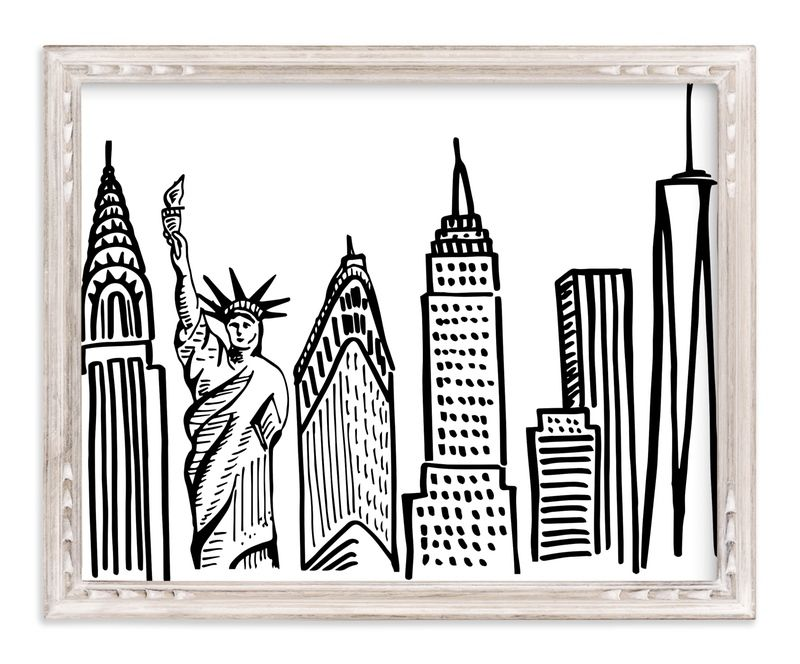 New York City Scape Marketplace Art Print In 2020 Art Art Prints Tapestry