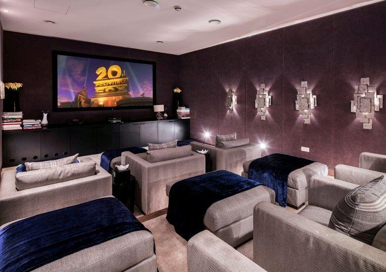Home cinema de grand standing dans cette luxueuse maison londonienne ...