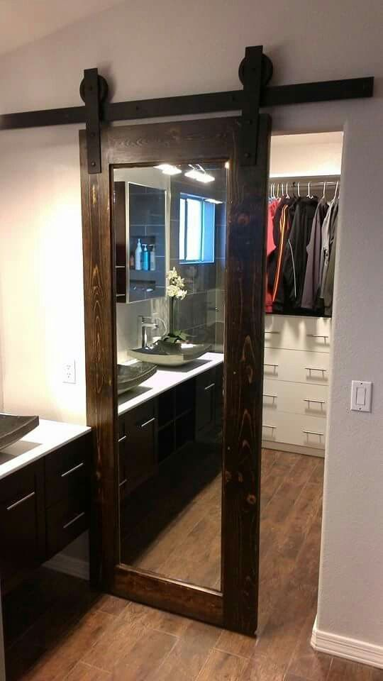 Master Bedroom Closet Door With The Mirror On The Inside