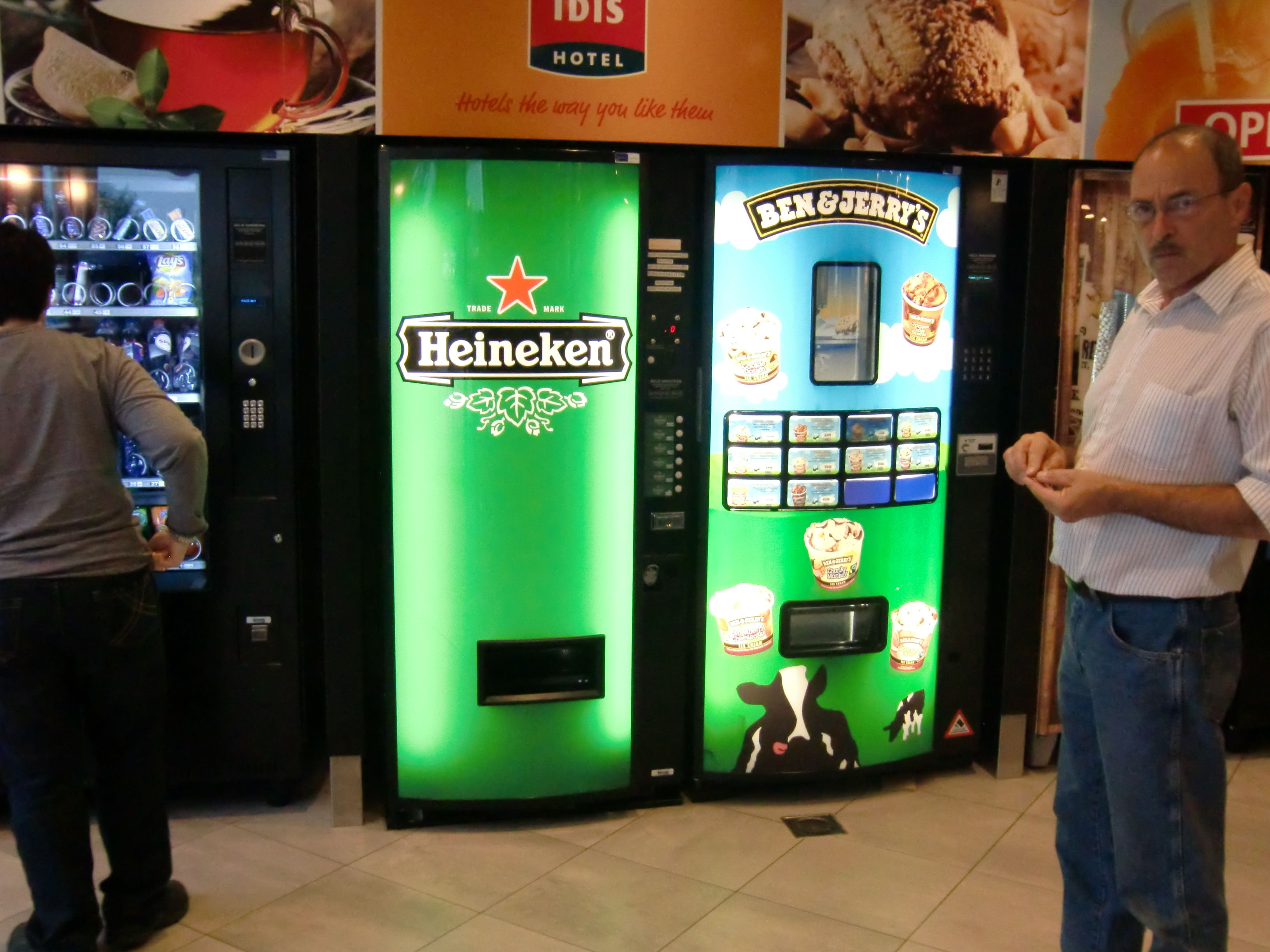 Man Cave Vending Machine : Only in amsterdam beer vending machines hotel lobby