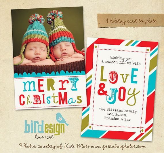 PSD Holiday Card Template - Whimsy Christmas - E212