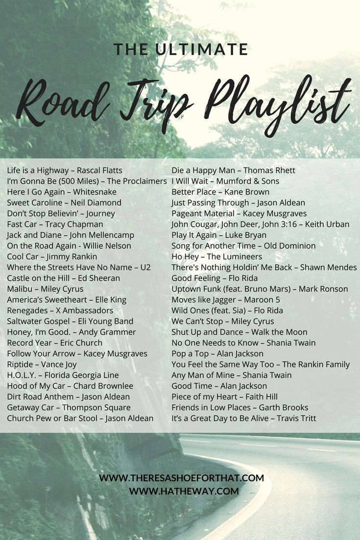 The Ultimate Road Trip Playlist - There's a Shoe for That