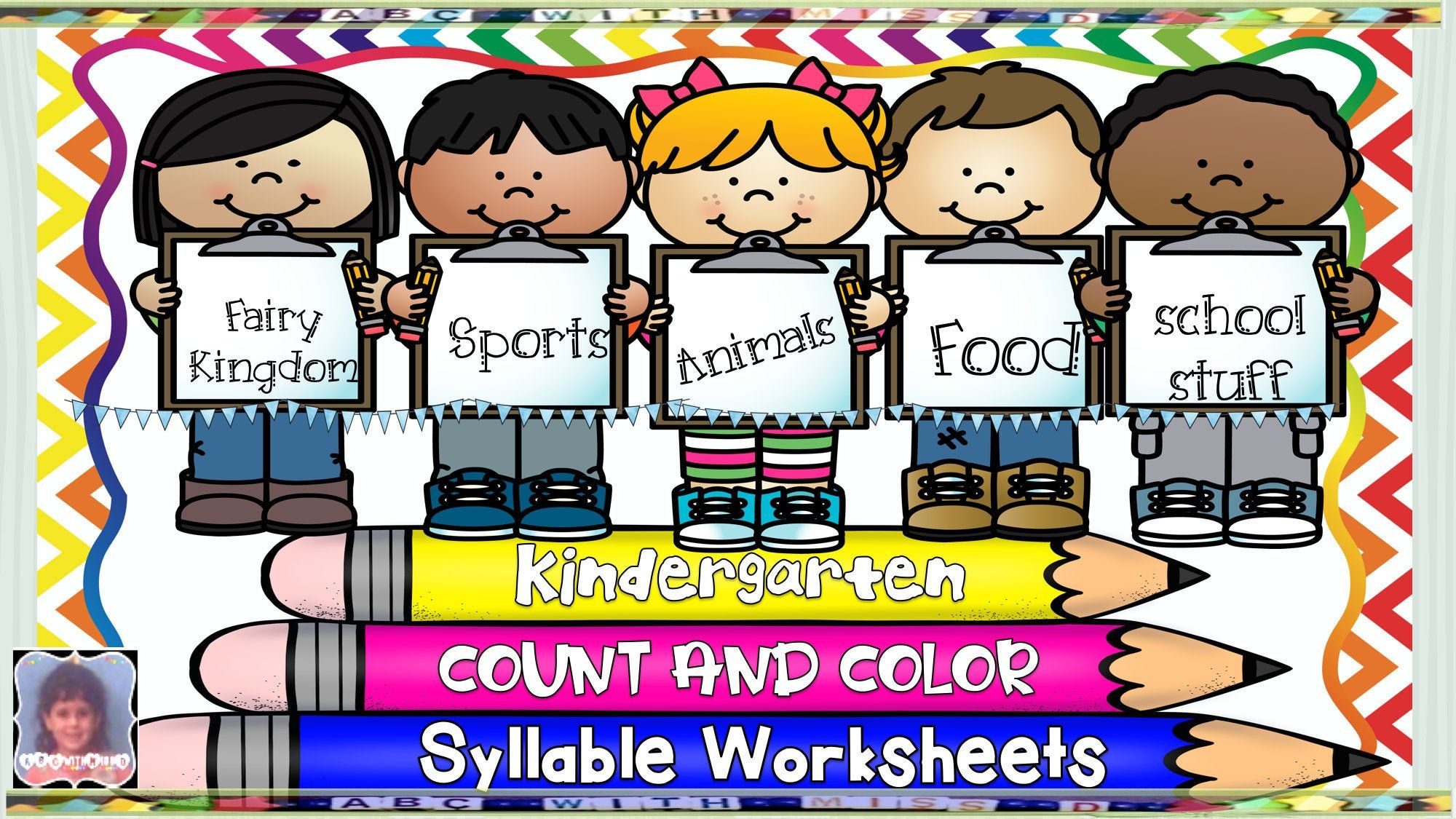 Kindergarten Phonics Worksheets For Learning Syllables